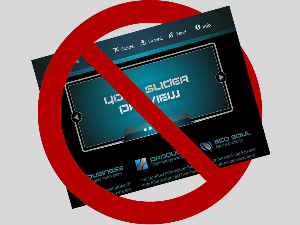 why you should dump sliders on your website